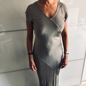 Long Sliver Bias cut evening Dress